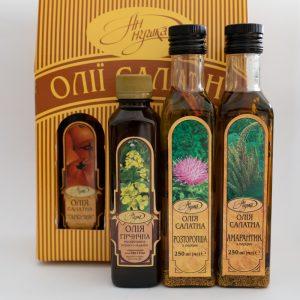 Salad and mustard oils
